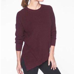 Athleta Rest Day Asymmetrical Pullover Sweater
